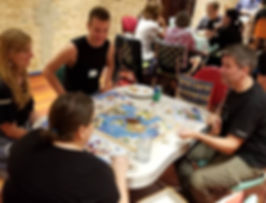 Groups playing board games