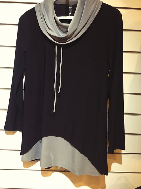 Focus cowl neck top