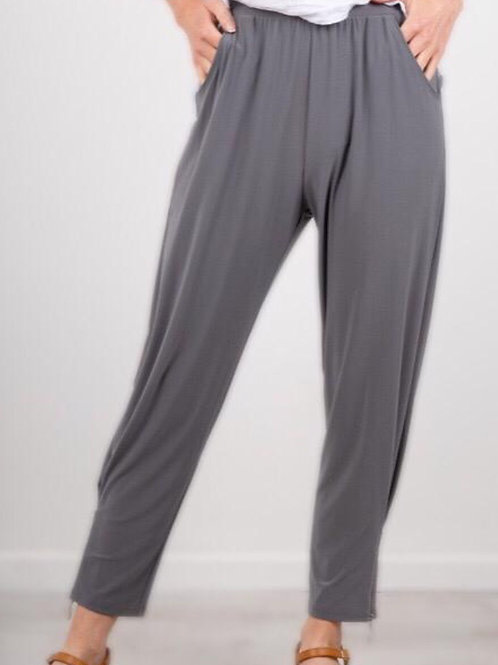 Focus casual trousers with ankle zip detail