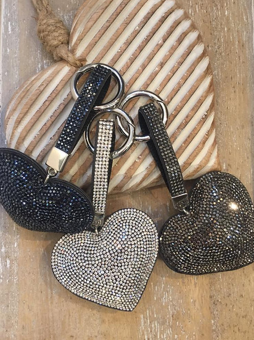 Heart key ring in various colours