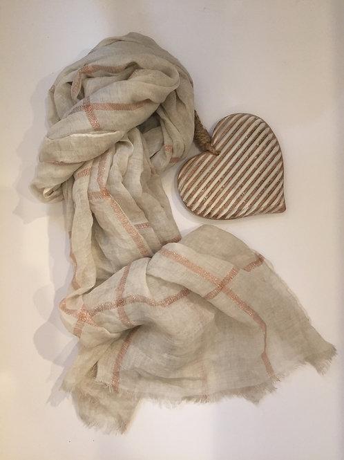Cream scarf