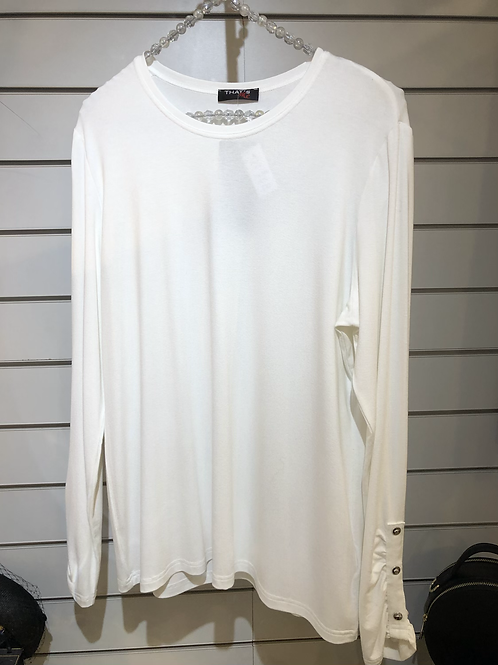 Top with button detail on sleeve