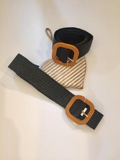 Black stretchy weave belt