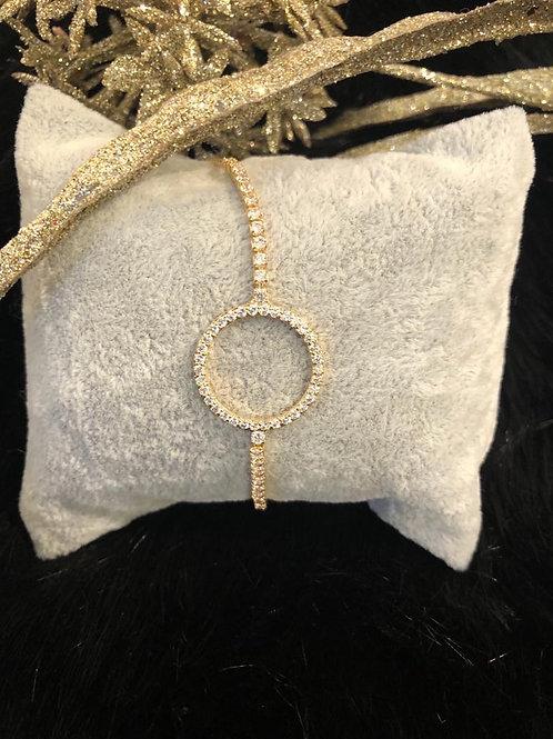 Fashion crystal pull gold bracelet