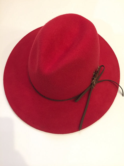 Red Trilby Hat