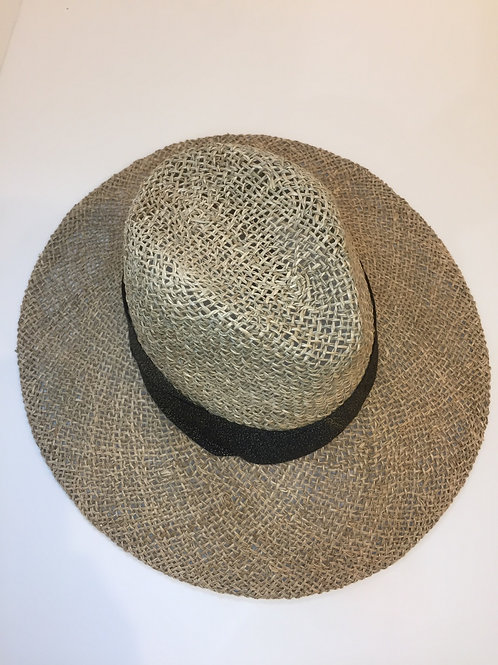 Large Sun hat with black band