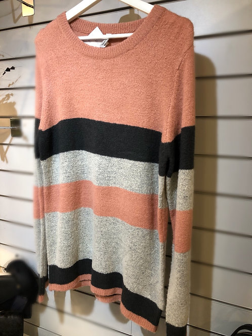 Pink stripe jumper