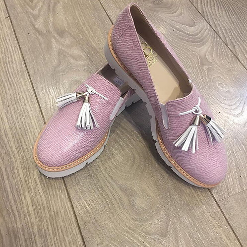 Pink Leather Shoe with tassel