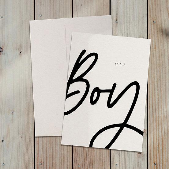 Boy / Klappkarte