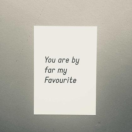 Postkarte MY FAVOURITE, Vorderansicht, Love is the new black