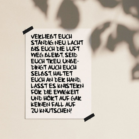 Verliebt euch / Poster