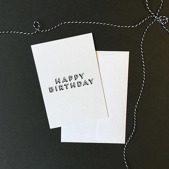 Happy Birthday / Klappkarte
