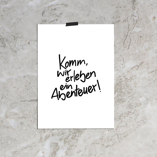 Abenteuer / Poster