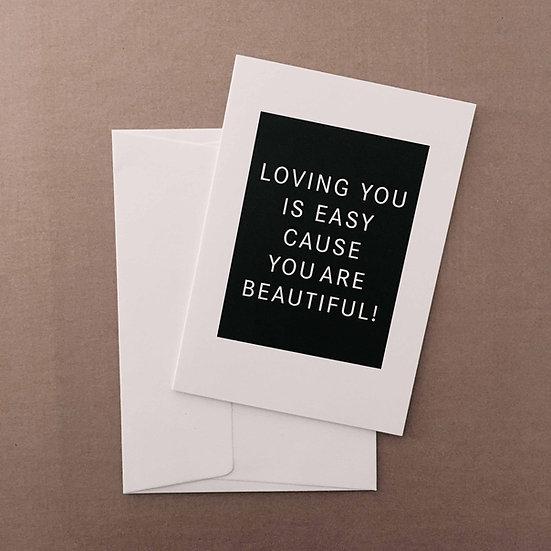 Loving you is easy / Klappkarte
