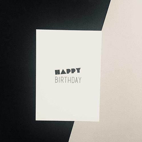 Postkarte BIRTHDAY, Vorderansicht, Love is the new black