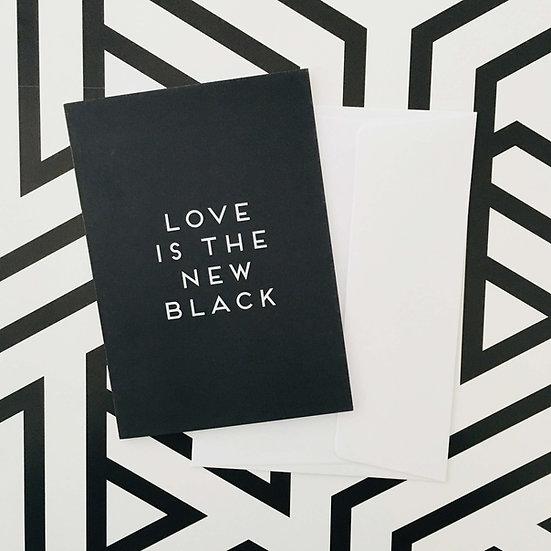 Full Black / Klappkarte
