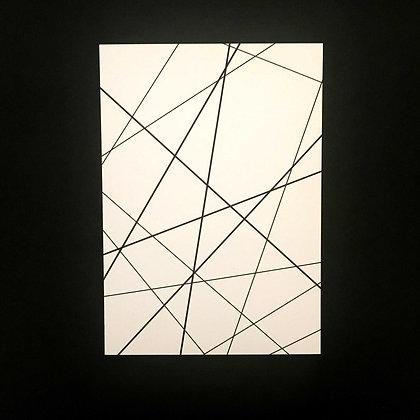 Postkarte LINES, Vorderansicht, Love is the new black