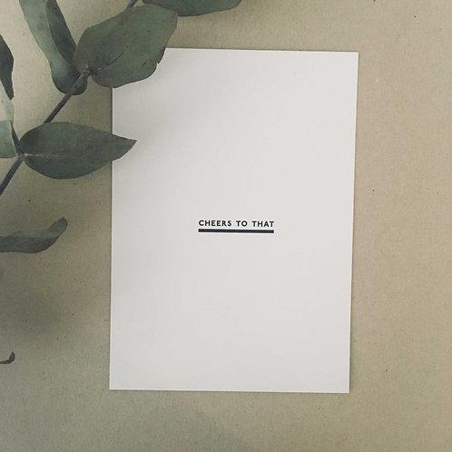 Postkarte CHEERS, Vorderansicht, Love is the new black