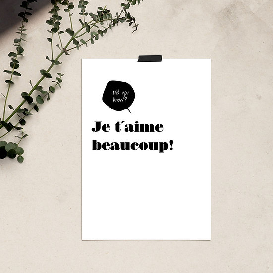 Je t'aime beaucoup / Poster