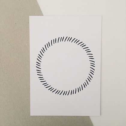 Postkarte CIRCLE, Vorderansicht, Love is the new black