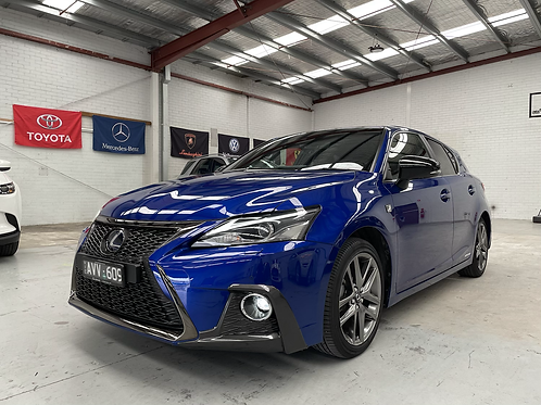 2018 Lexus CT200h F Sport and 12000kms