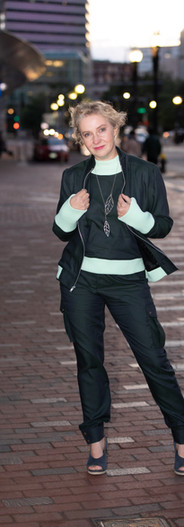 The Ultimate Tencel Combo: bomber jacket, sweater and cargo pant