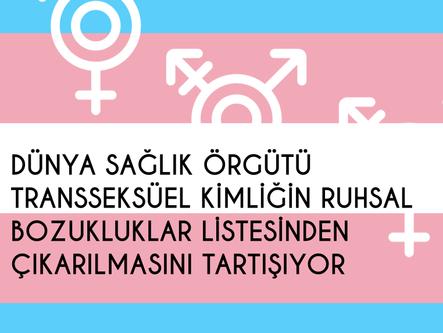 Dünya Sağlık Örgütü transseksüeliteyi ruhsal bozukluklar listesinden çıkarmayı tartışıyor