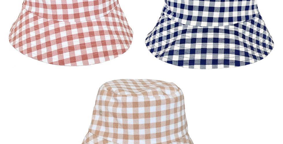Sombrero Vichy reversible