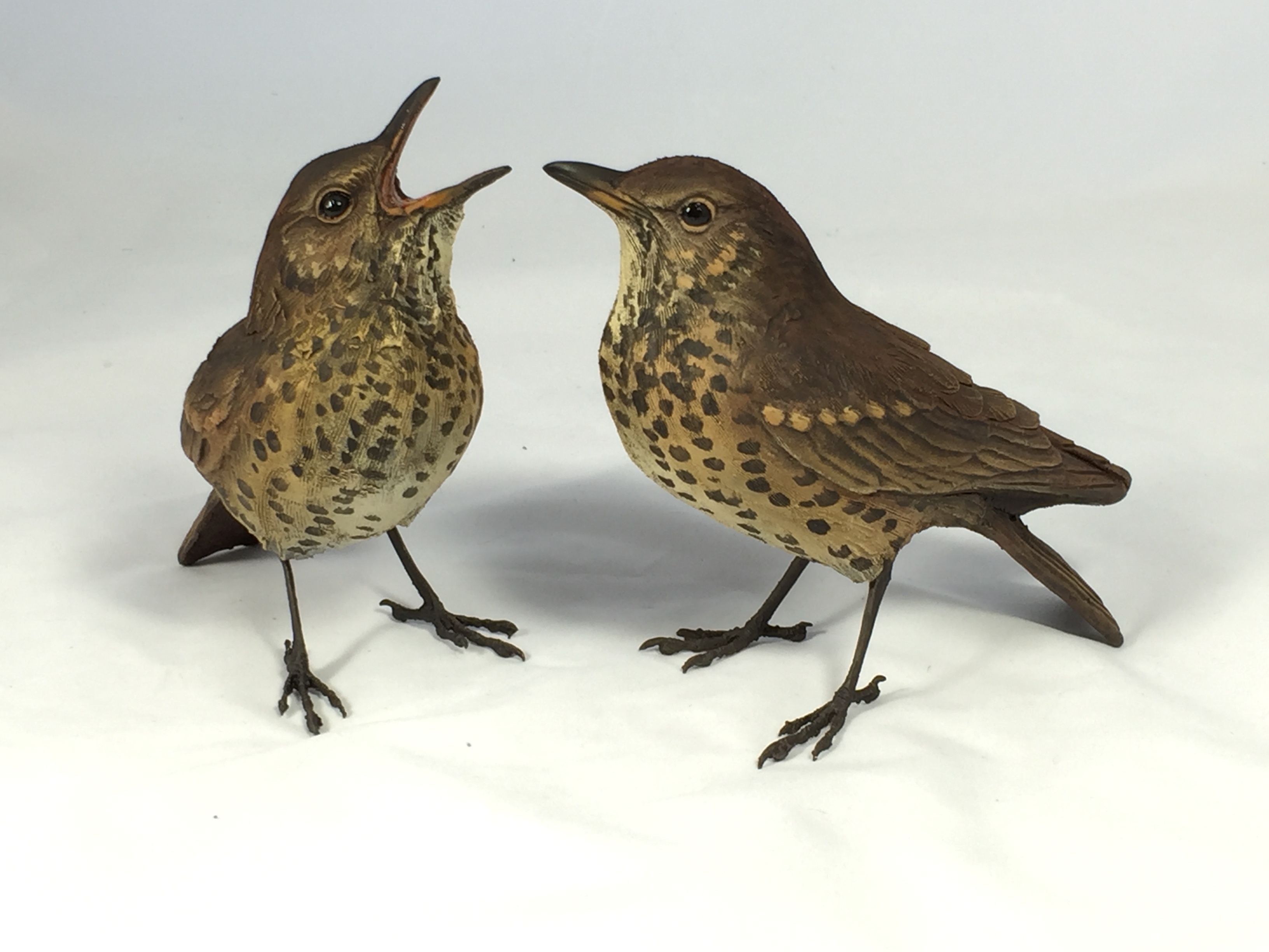 Bird Sculpture - Songthrushes