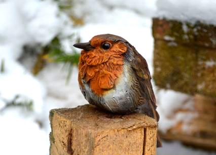 Bird Sculpture - Robin