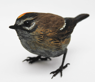 Bird sculpture - Firecrest