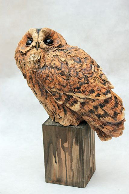 Bird Sculpture - Tawny Owl