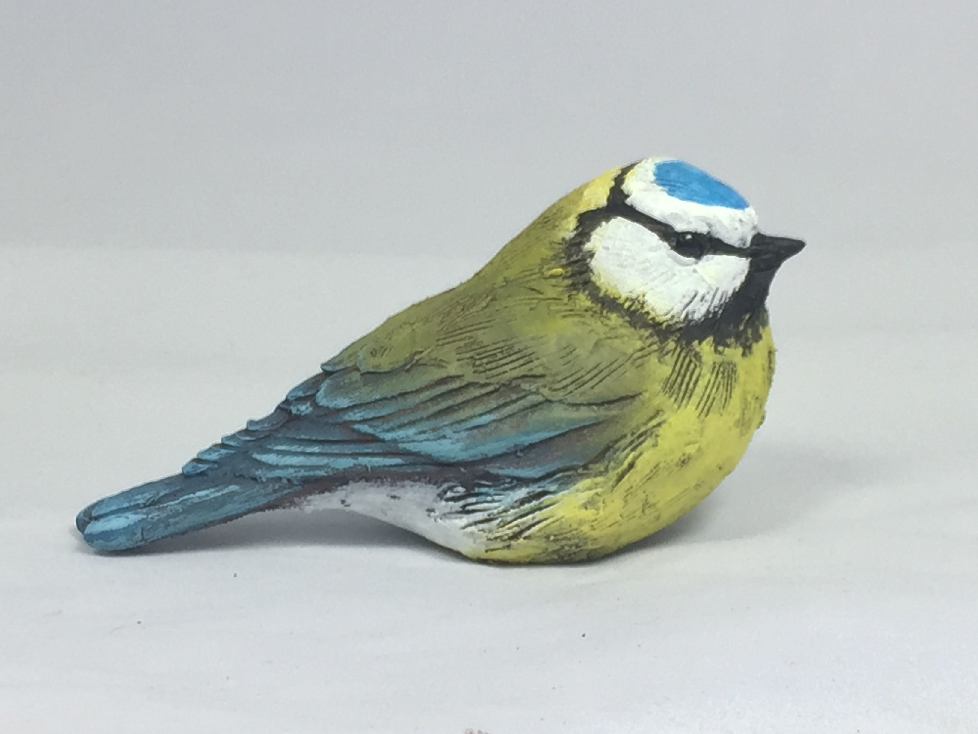 Bird Sculpture - Bluetit sitting