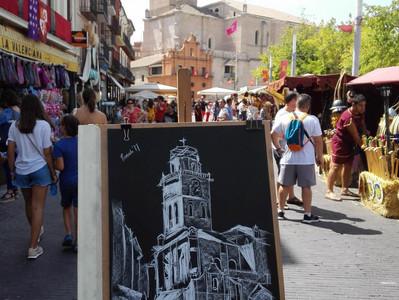 """Dibujo en directo en la """"Semana Renacentista"""""""