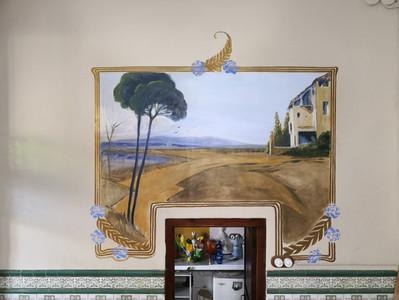 Restauración mural de patrimonio