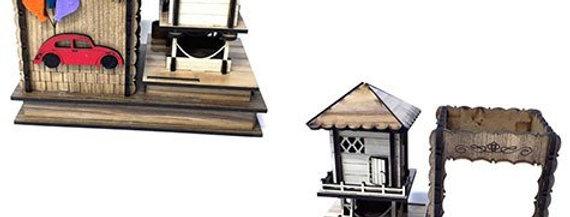 Ahşap Serender Evi Tasarımlı Kalemlik