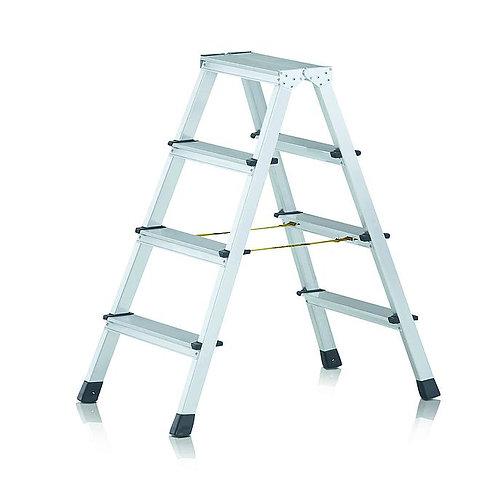 41664 Стремянки с приклепанными ступенями, с двусторонним подъемом