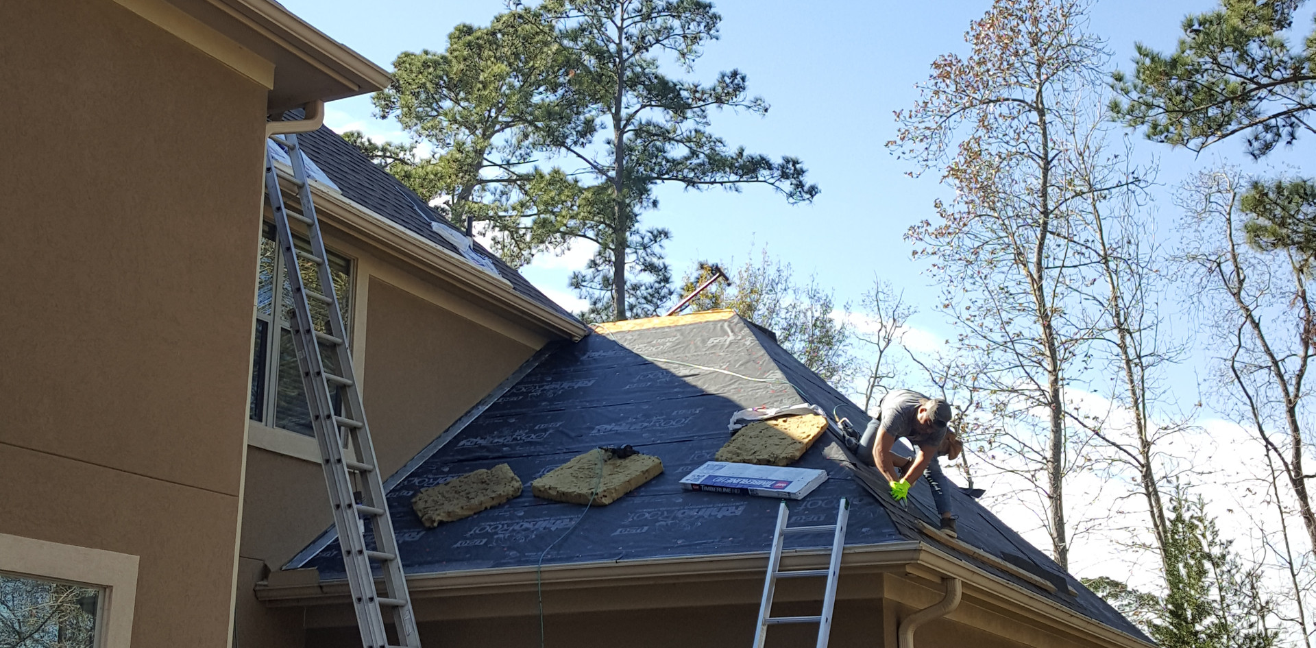 Reroof after Harvey