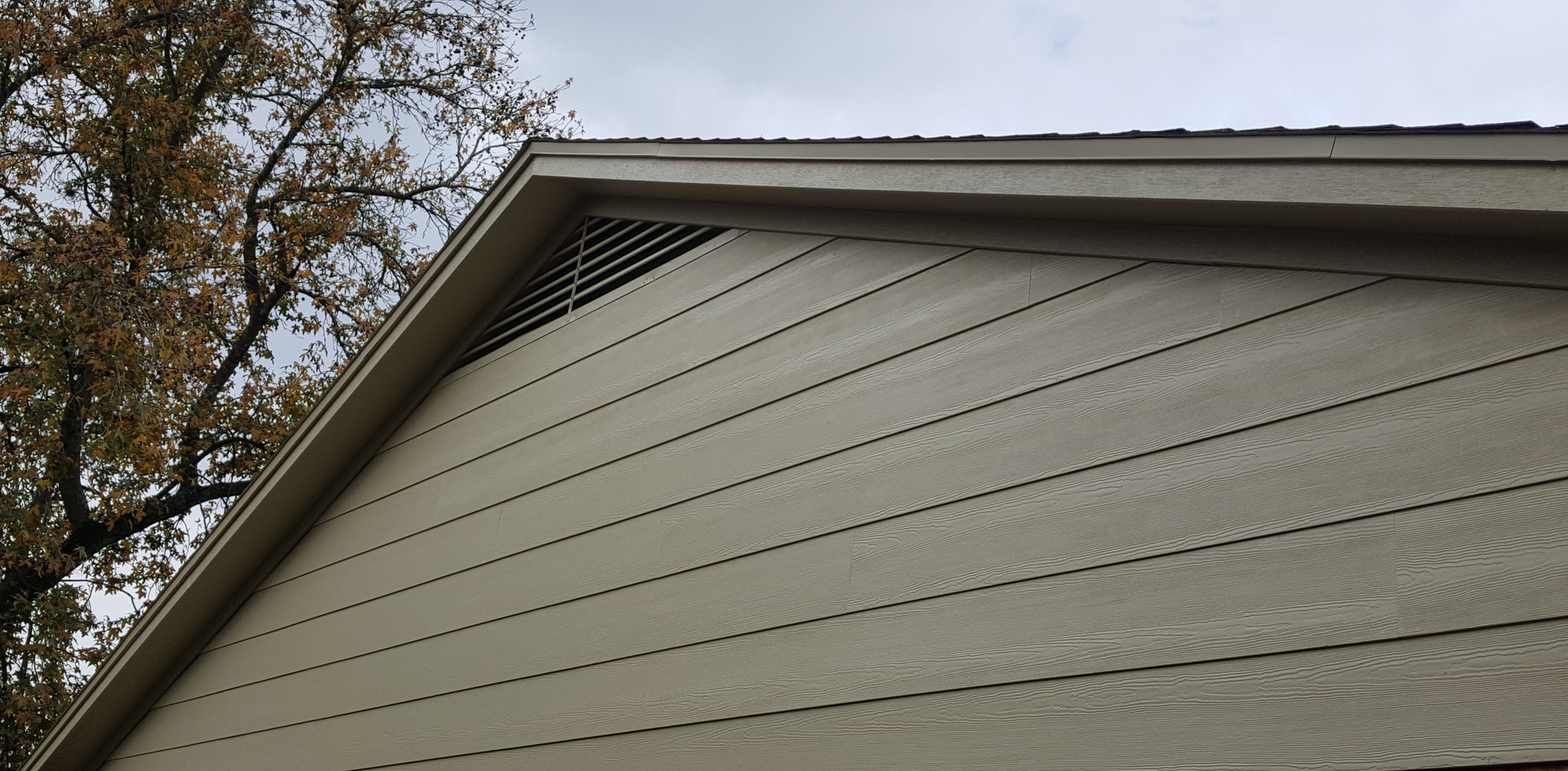 Freshly Painted Hardie Siding