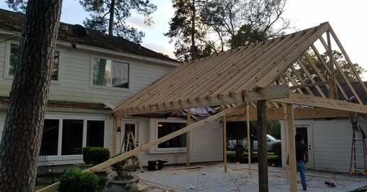 Covered Patio Being Built