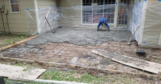 New Concrete and Flagstone Patio Project in Progress