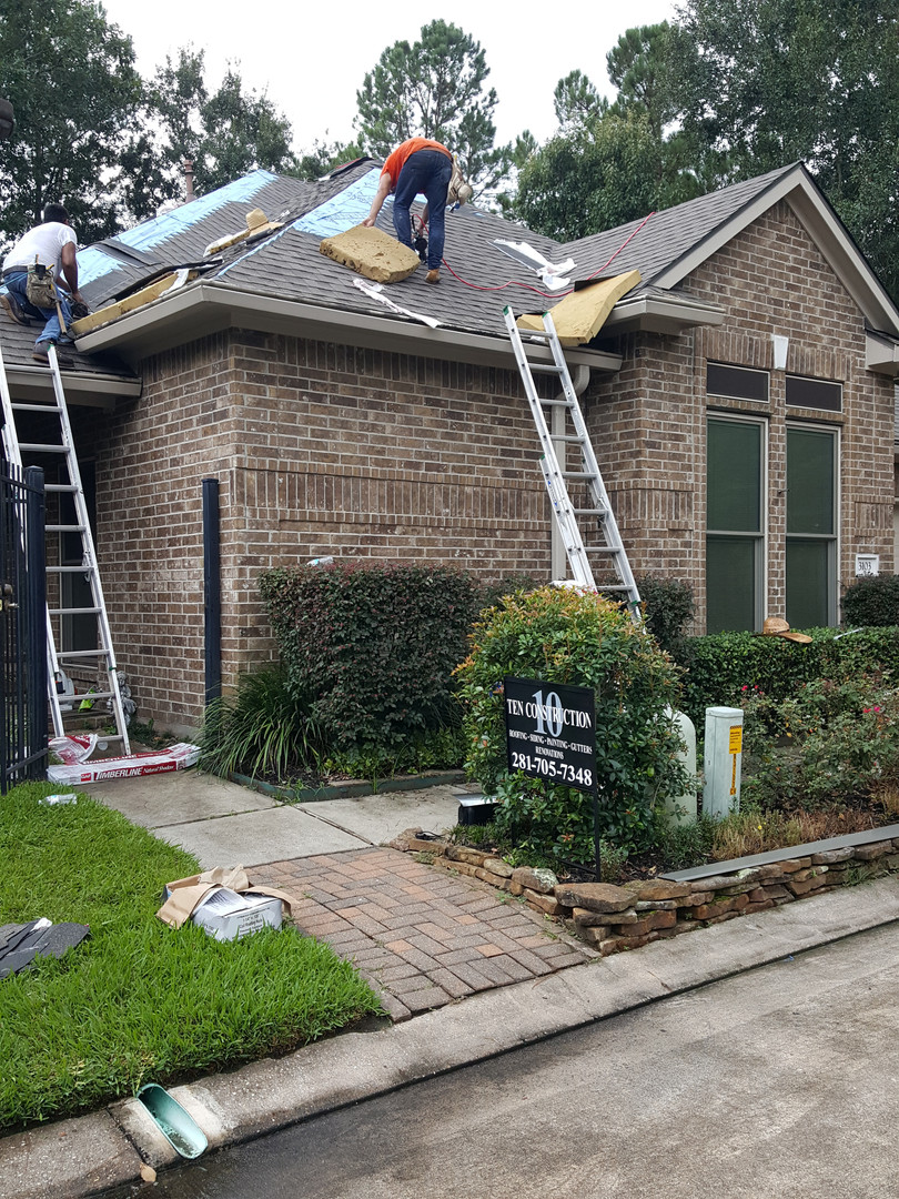 Roofing a patio home in Kingwood