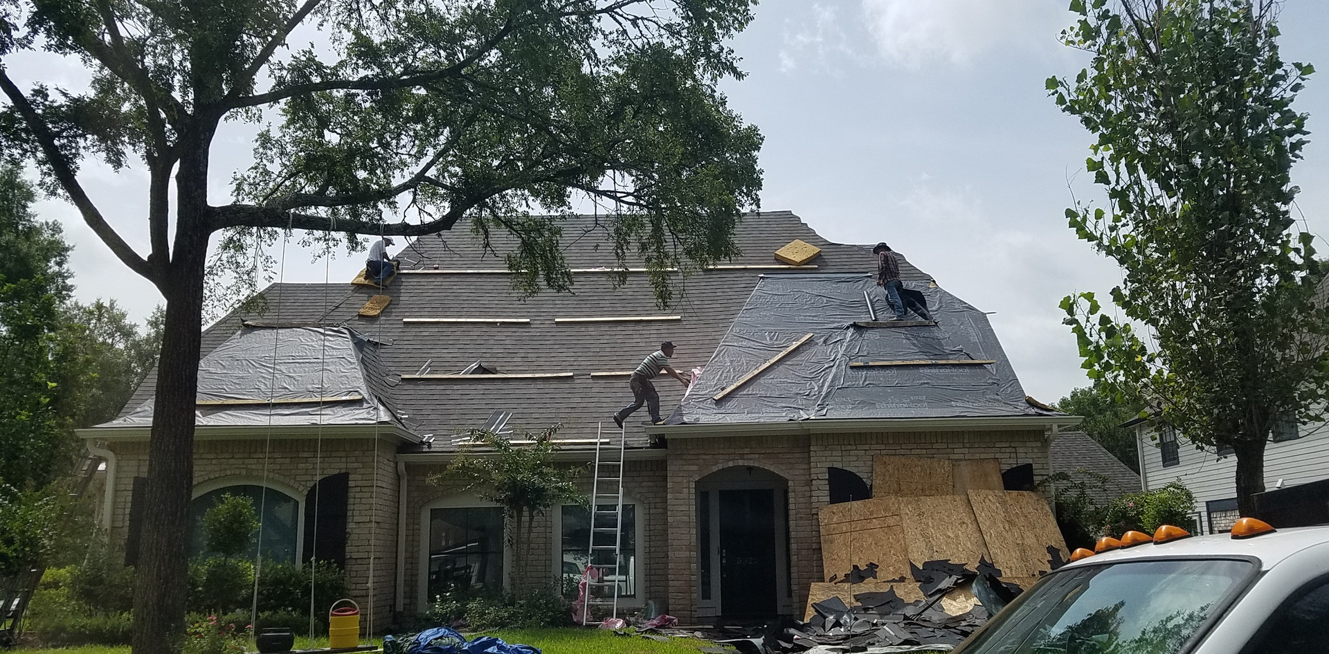 Roof in progress.