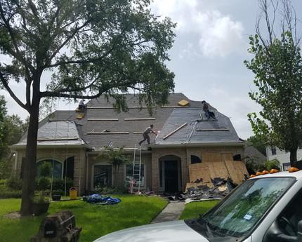 Roof in progress.