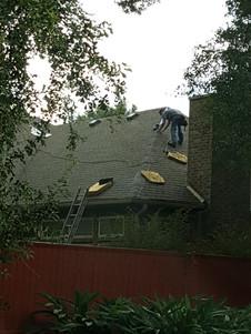 Finishing ridge on back of house