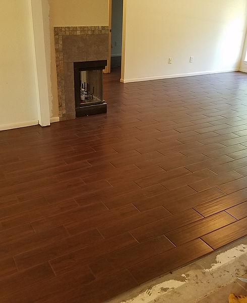 New tile flooring installed.