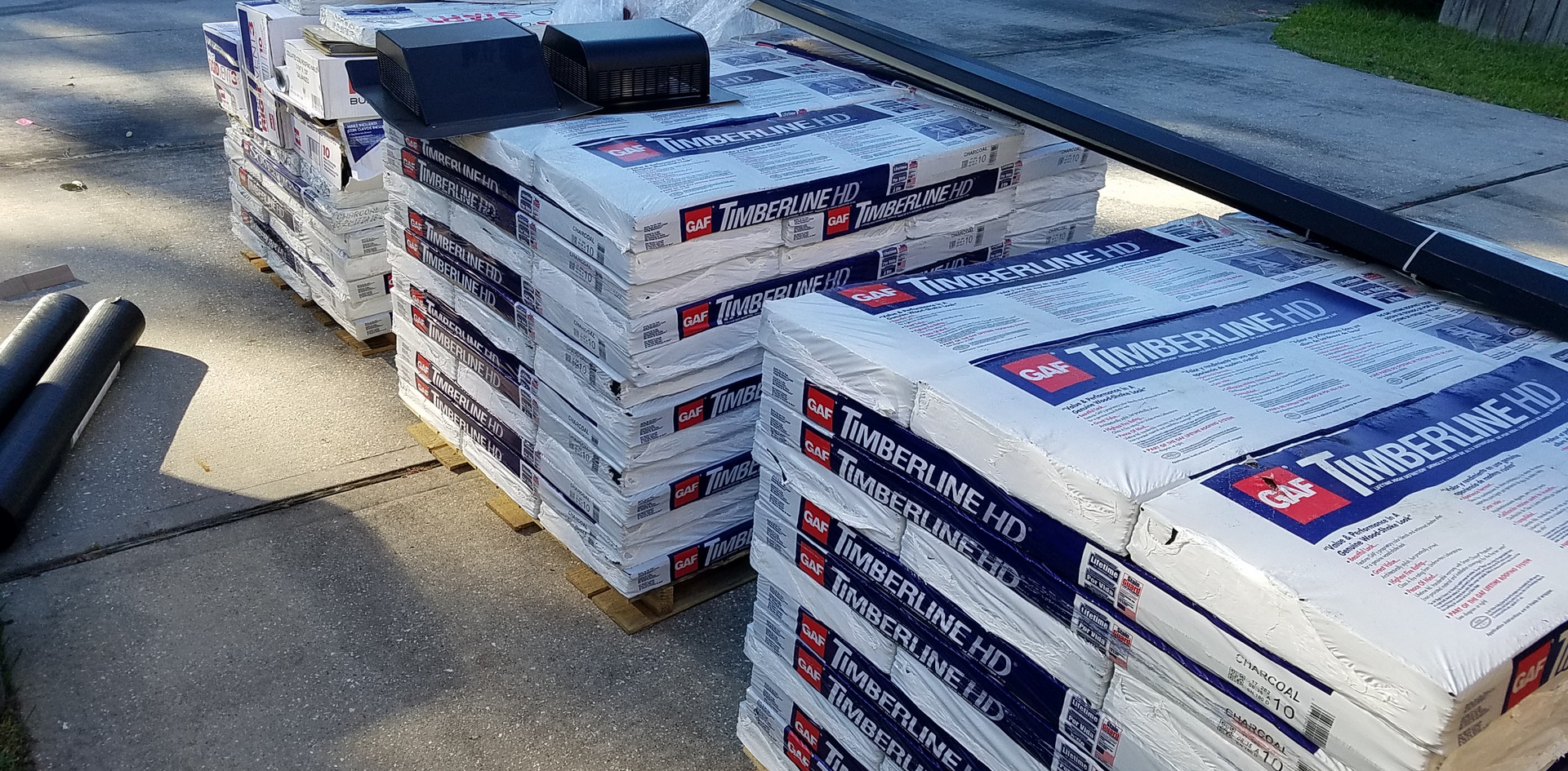 Materials for New Roof.