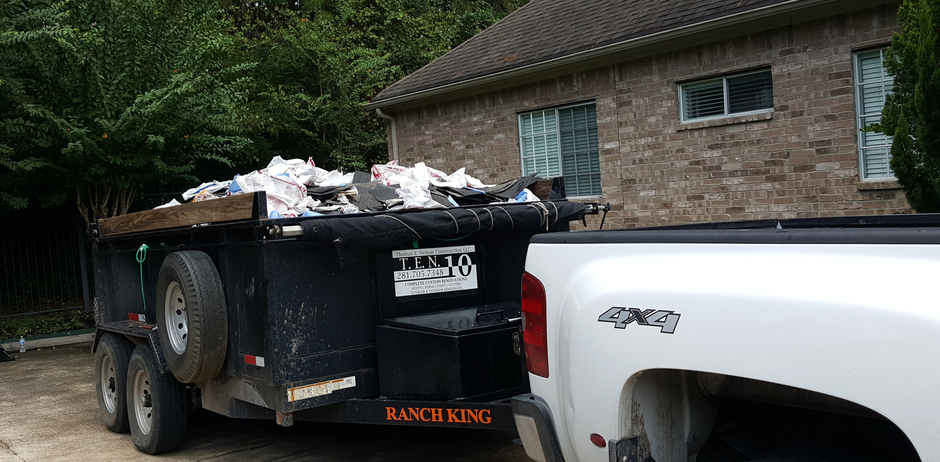 We haul away the debris and always clean up thoroughly and run magnets around the property.
