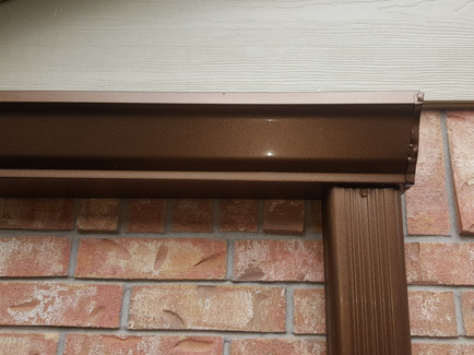 Rustic Copper Gutter recently installed.