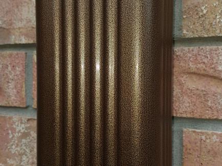 Rustic Copper Gutters.